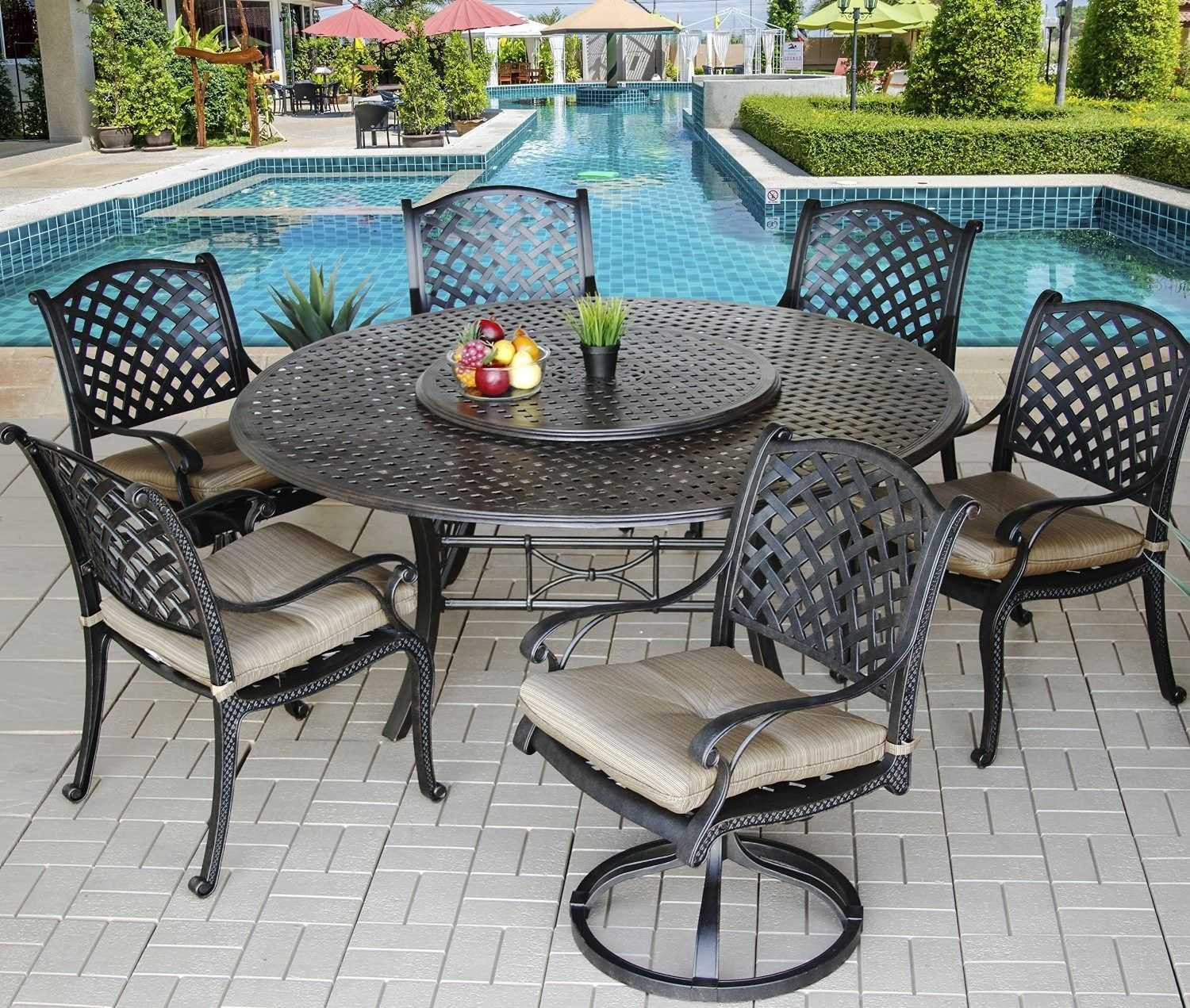 100 round patio table with lazy susan cool furniture ideas check rh pinterest com For Umbrella Patio Table with Lazy Susan large round patio table with lazy susan