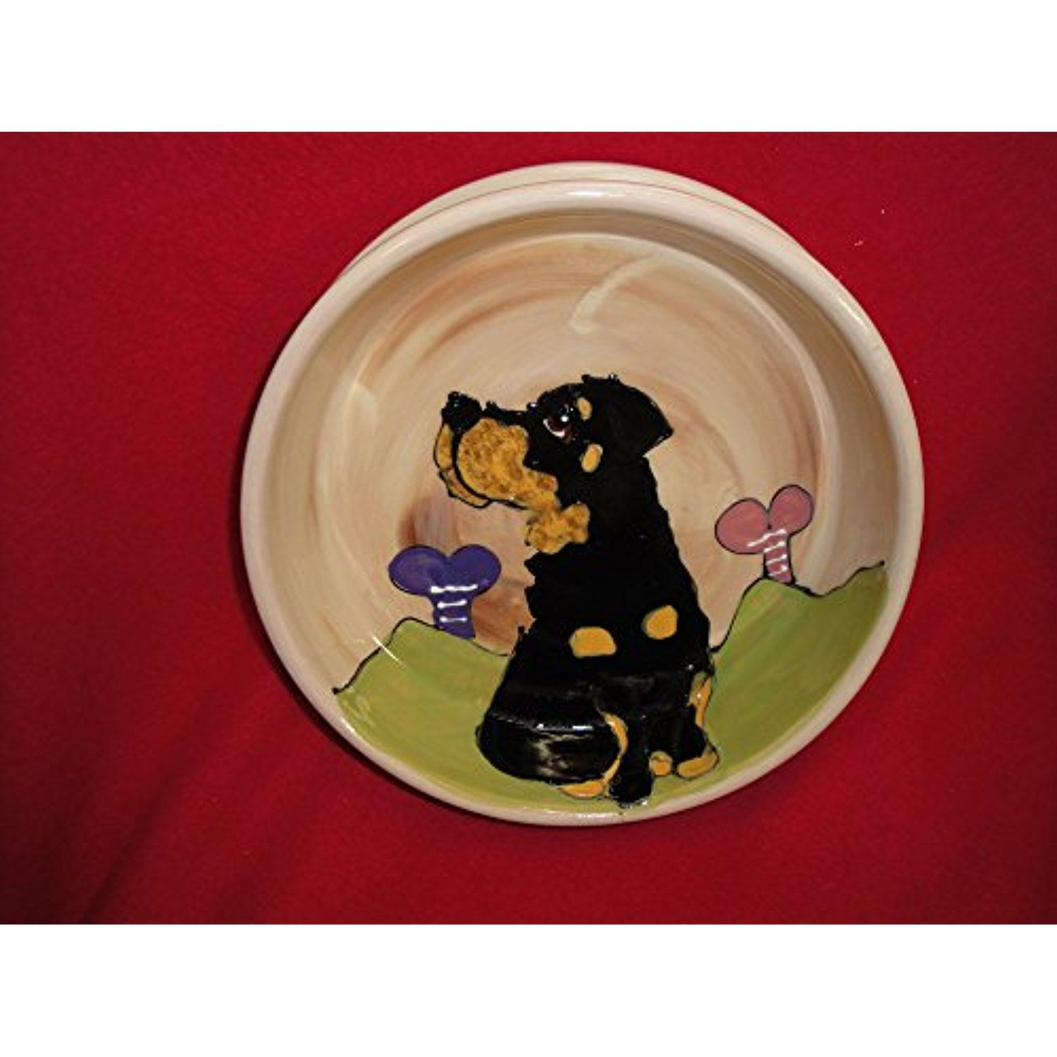 "Pet Bowl, 6"" Dog Bowl for Food or Water, Personalized at no Charge. Signed by Artist, Debby Carman. @@ You can check out this great product. (This is an affiliate link and I receive a commission for the sales)"