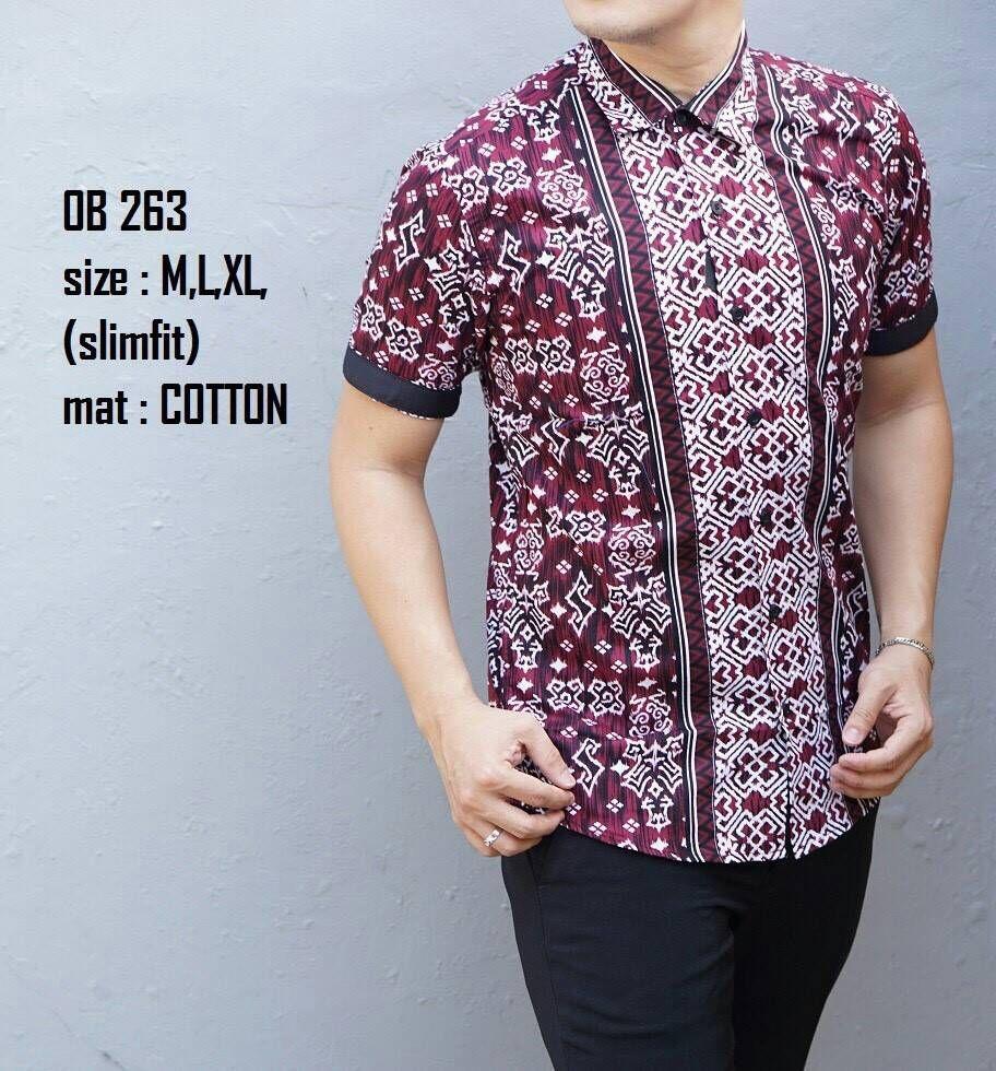 Model Baju Batik Pendek Untuk Pria Kombinasi Lengan Terbaru Baju