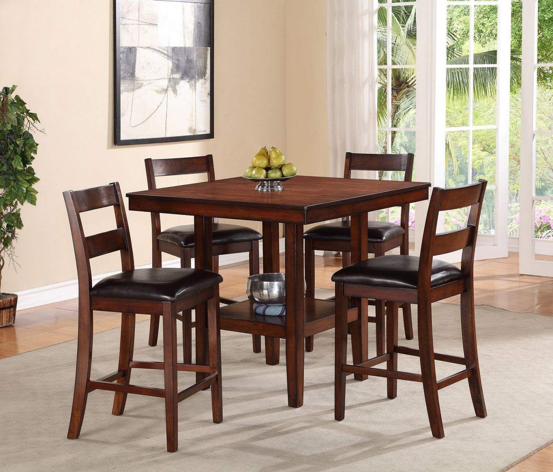 All Wood Dining Room Sets: Caroline Pub Table & Chairs Set