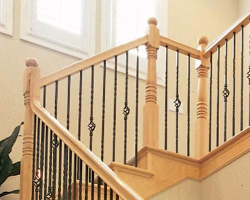 Wood And Metal Stair Railing Spindles Deck Railing At  Http://awoodrailing.com