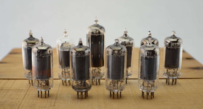 10 Vintage Vacuum Tubes Electronic Parts Radio Tubes Tv Tubes
