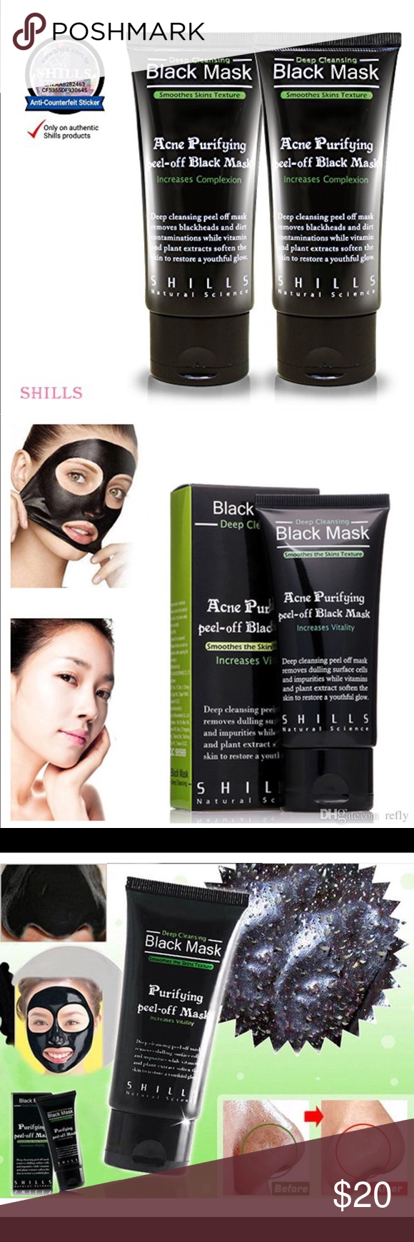 Shills Purifying Black Mask Peel Of Deep Cleansing Off 2