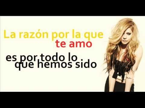 Avril Lavigne I Love You Con Letras En Español Avril