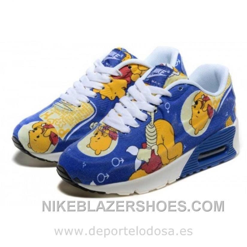 Nike Air Max 90 Kids Zapatillas Azul Amarillo 1005 (Nike Air Max 90 ... aa6fc3e477c91