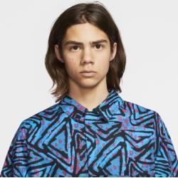 Photo of Nike Sb Men's Printed Skateboard Polo Shirt – Blue Nike