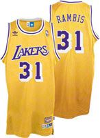 69339a7ae Kurt Rambis Jersey  adidas Gold Throwback Swingman  31 Los Angeles Lakers  Jersey