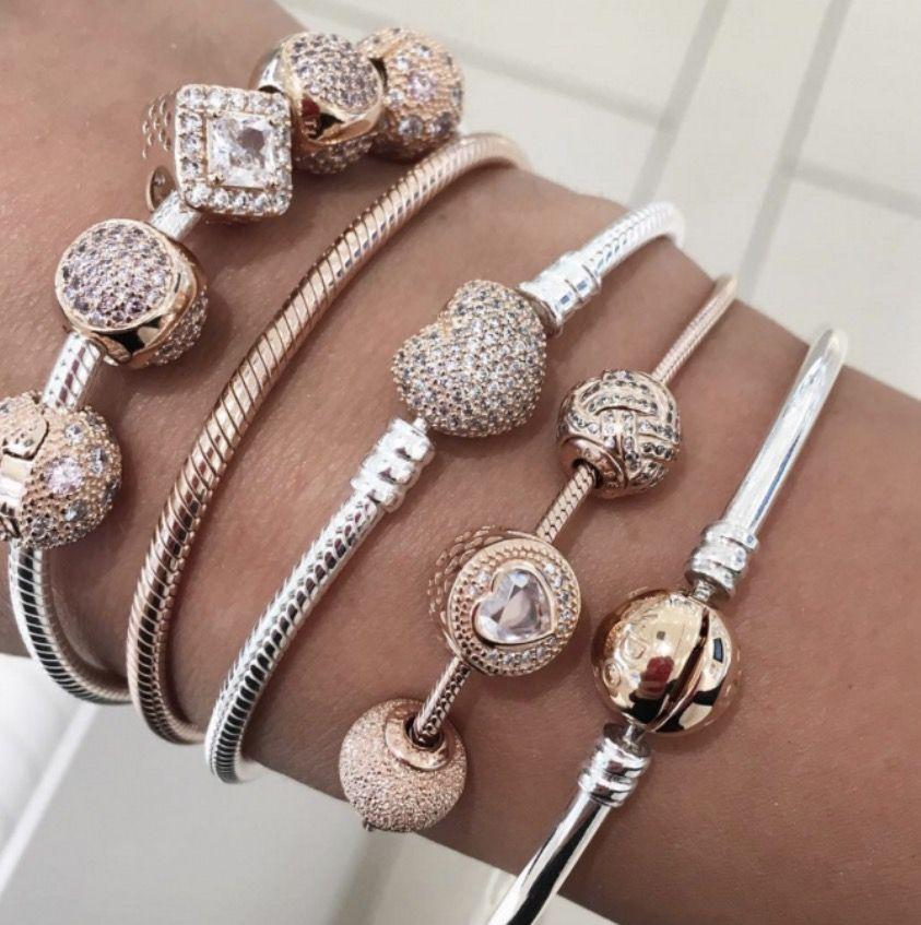 pandora armband charms rosegold
