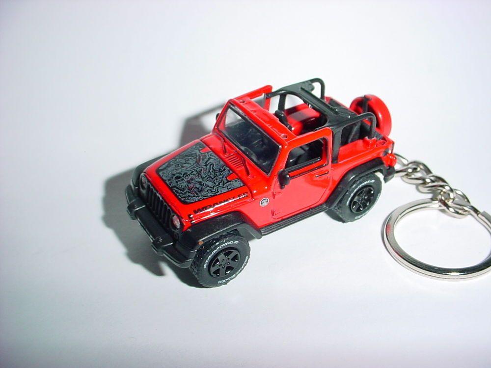 Details About New 3d Jeep Wrangler Custom Keychain Key Keyring 4x4