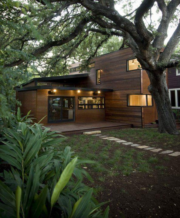 modern cabin home