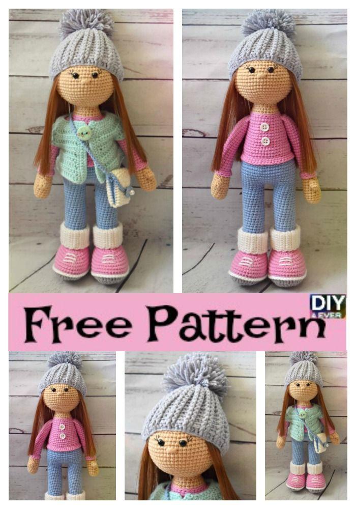 Molly Doll crochet pattern - Amigurumi Today | 1000x700
