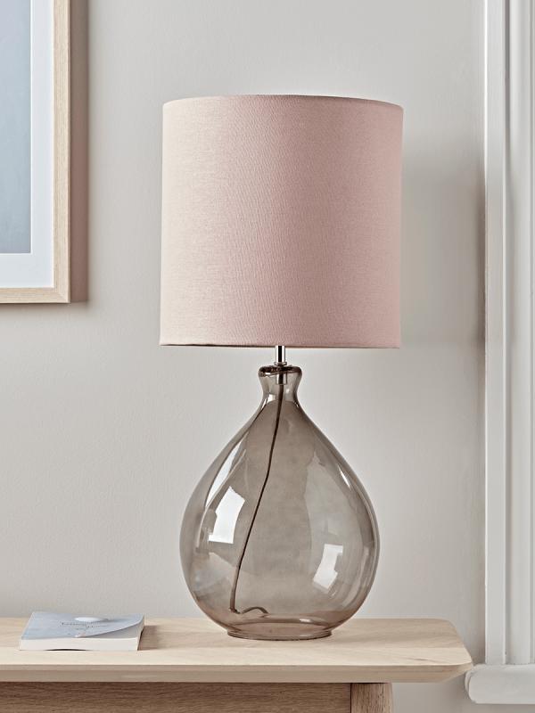 Sanna Smoke Blush Table Lamp Table Lamps Uk Elegant Table Lamp Table Lamp