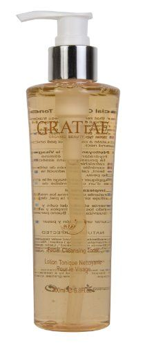 Gratiae Organics Facial Cleansing Lotion, 6.8 Ounce Glycolic Acid 70% Gel Peel with Chamomile and Green Tea Extracts - Professional Grade Chemical Face Peel for Acne Scars, Collagen Boost, Wrinkles, Fine Lines - Alpha Hydroxy Acid - 1 fl oz