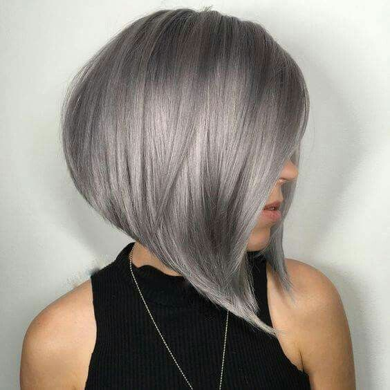 Below You Can Find The Most Beautiful Silver & Grey Short Hair Styles For Fall. Wow … What are they all beautiful!