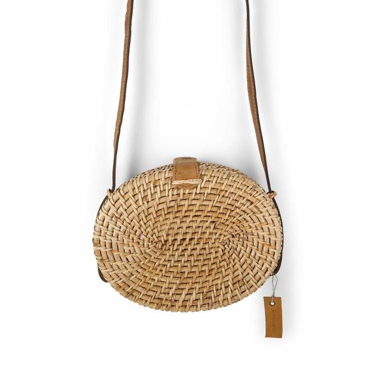15a19b35618 Rotan ronde tas riet | De IT-bag van het moment | Handmade - Mycha ibiza