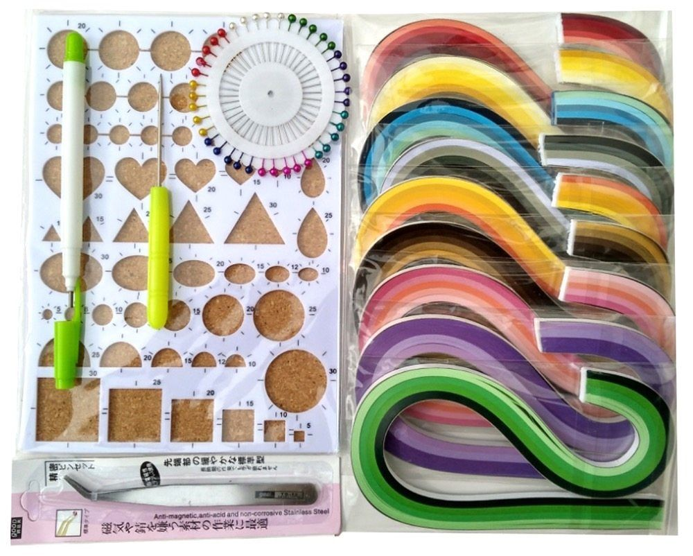 3mm//5mm Paper Quilling DIY Craft Kit Board Mould Crimper Comb Tools