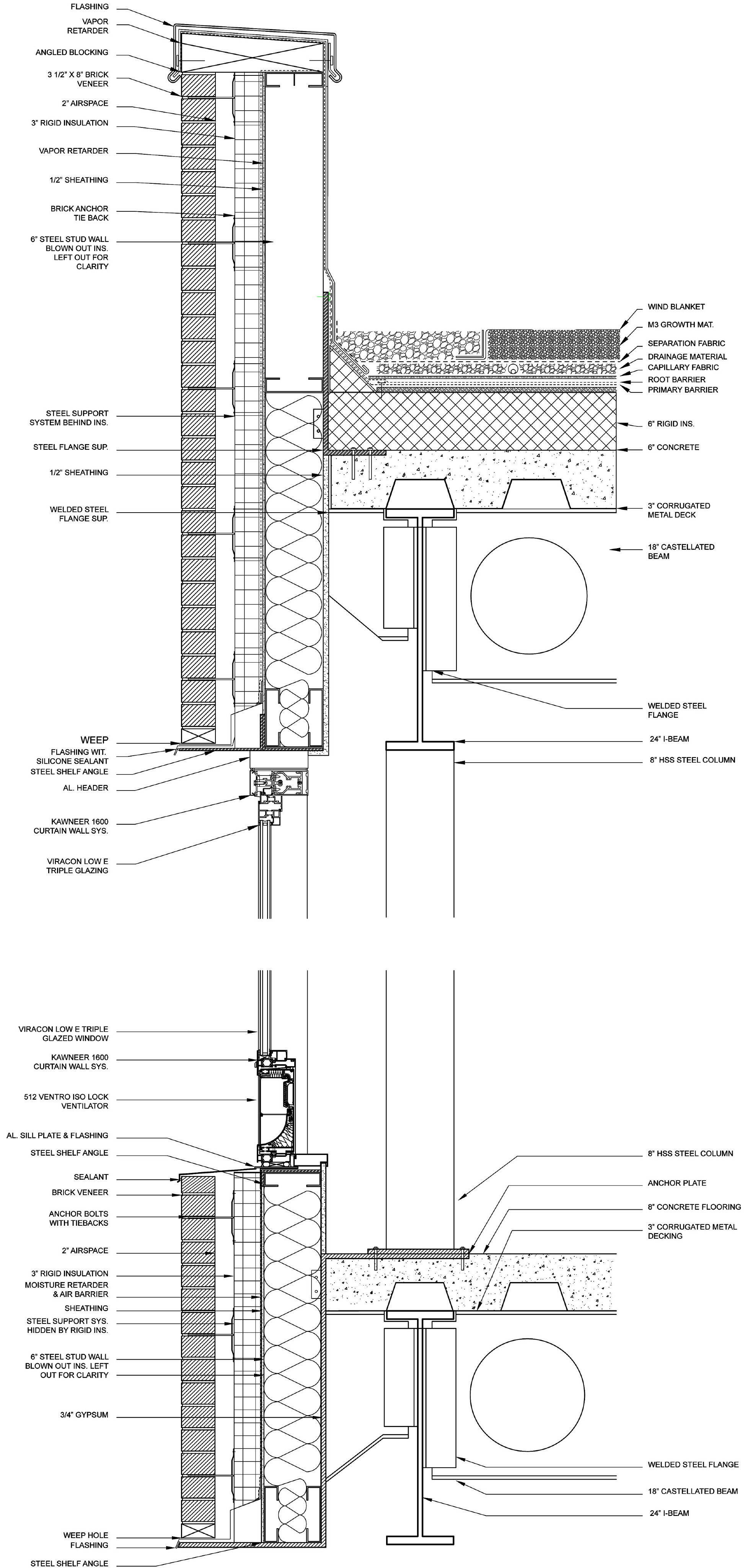 Enclosure Details Brick Veneer Facade Facade Detail With