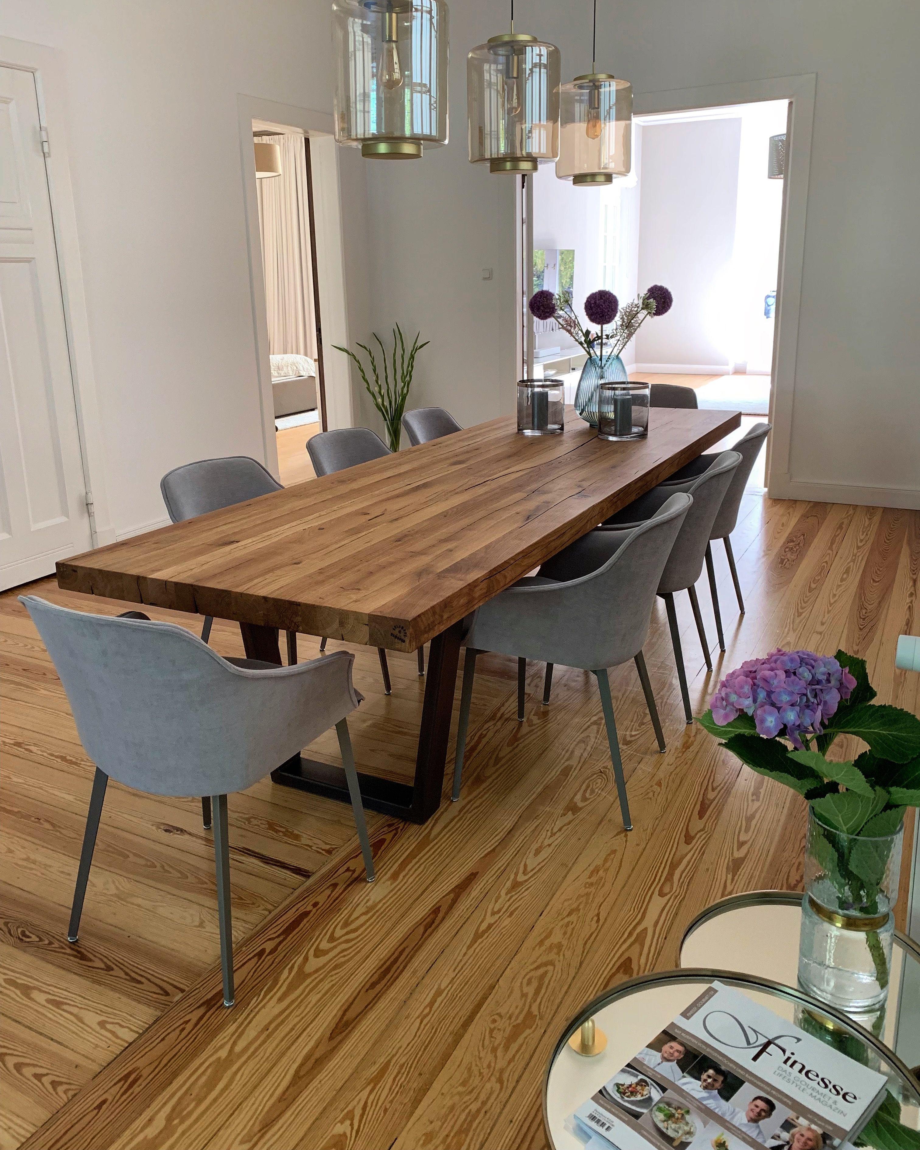 Esszimmer Tisch Esstisch Massivholztisch