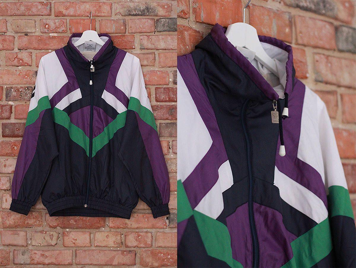 Hummel Vintage Jacket 90s Windbreaker Tracksuit Retro Etsy Windbreaker Vintage Jacket 90s Windbreaker