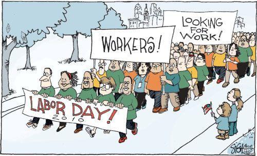 labor day art work Happy Labor Day Weekend Cartoon a