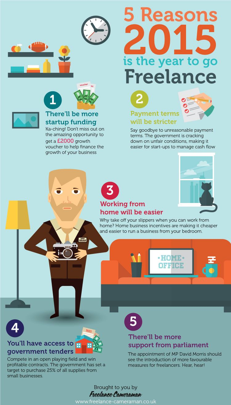 5 reasons 2015 is the year to go freelance infographics