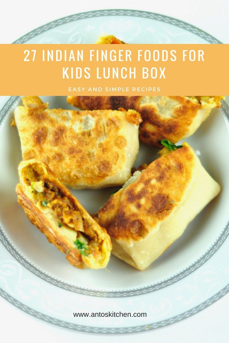Indian Kids Lunch Box Recipes