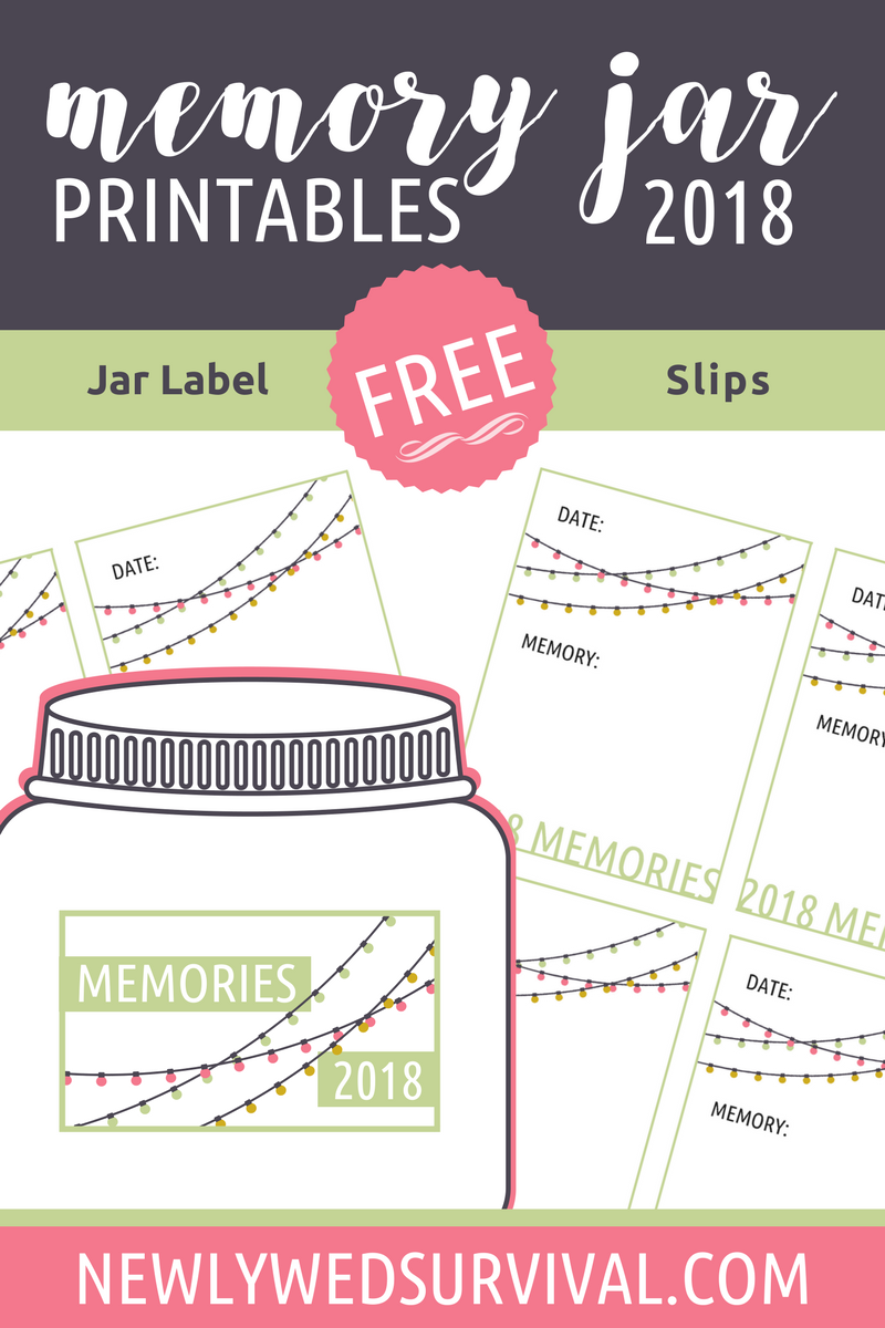 2018 Memory Jar Printables for Your New Year's Eve Date