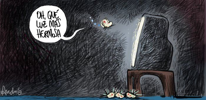 La televisión peruana y el nivelazo de estos tiempos, en el trazo de Andrés Edery.