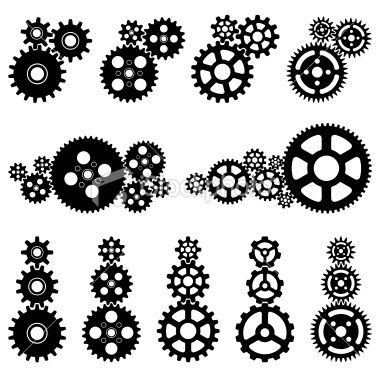 45+ Gears Black And White Clipart