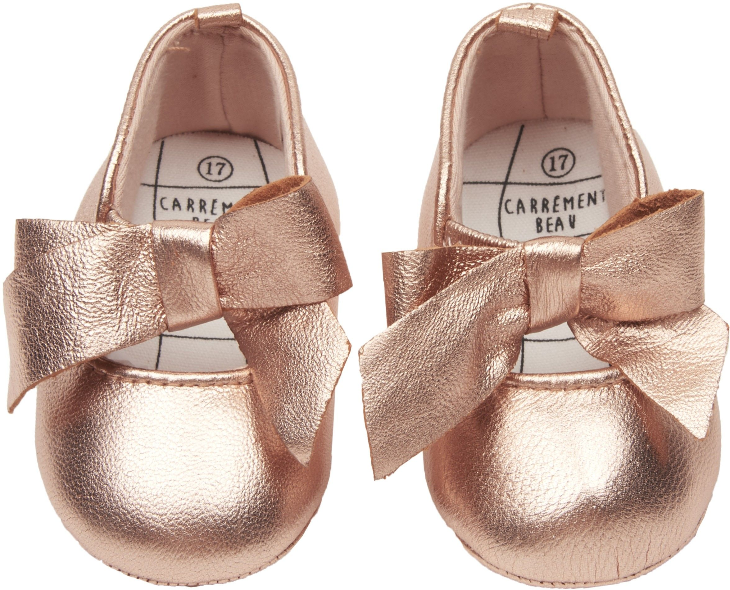 Shop The Carrement Beau Girls Bow Baby Shoes In Gold Browse The