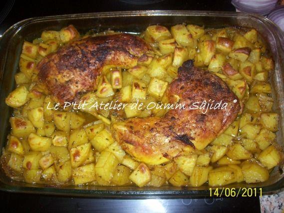 Cuisses de poulet et pomme de terre au four recette baby etcc gratin chicken thighs et - Cuisse de poulet grille au four ...