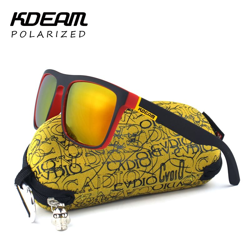 9f5893097f2 Highly Recommended KDEAM Mirror Polarized Sunglasses Men Surfing Sport Sun  Glasses Women UV gafas de sol With Peanut Case KD156 WOW  shop  beauty   Woman s ...