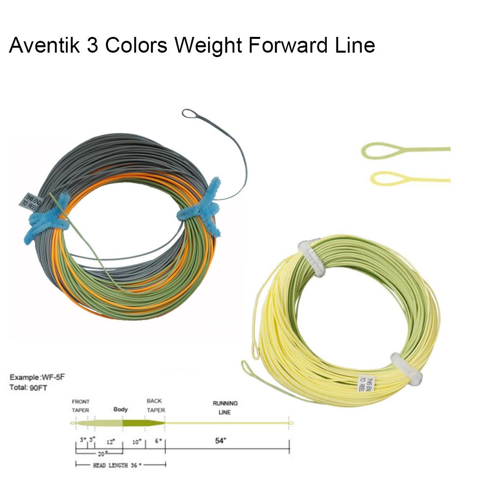 Aventik Fly Fishing Floating Weight Forward Colored Fishing Line 3 Colors Percerption Trout Line Fly Fishing Line Fly Fishing Flies Trout Fly Fishing
