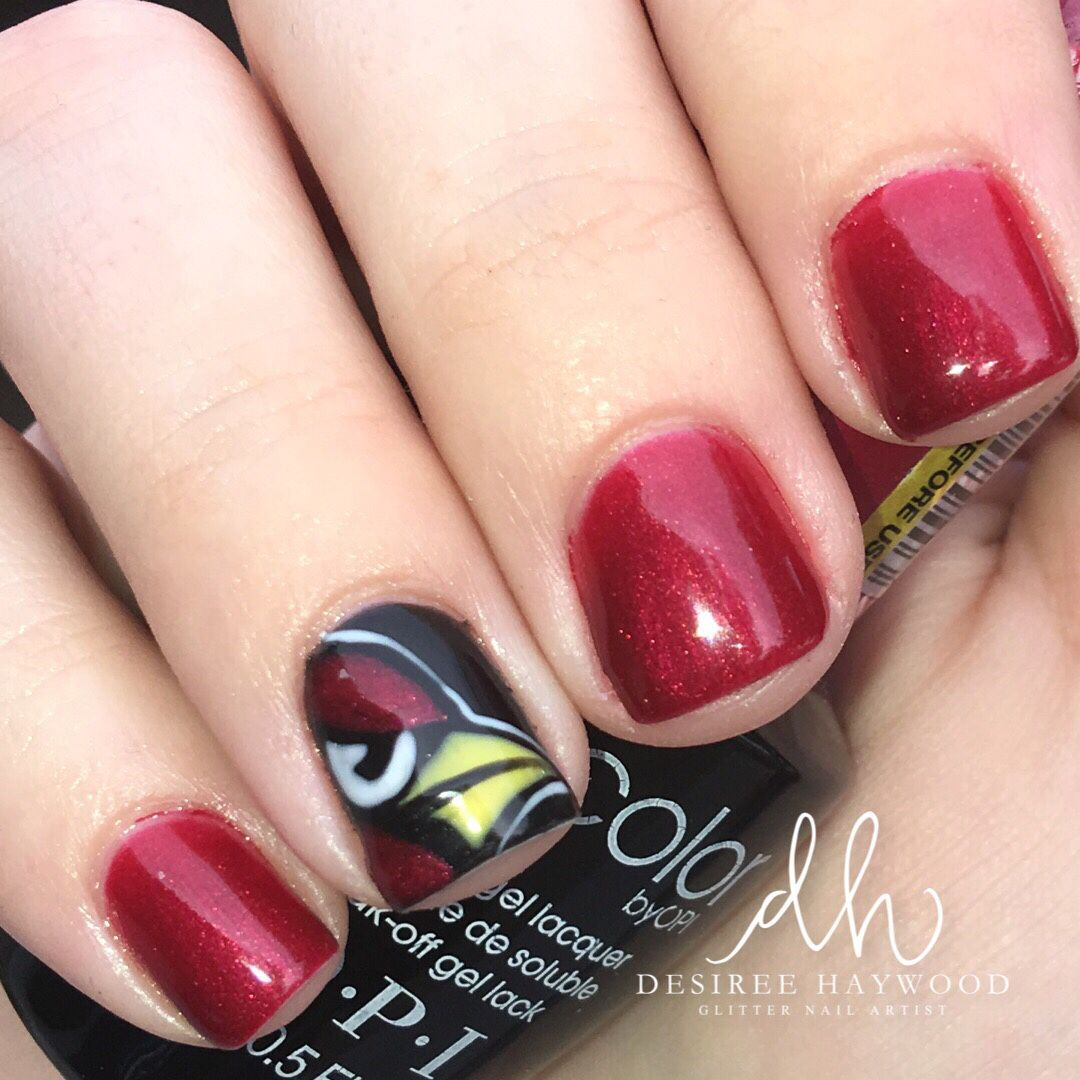 Arizona Cardinals Nails - Used: OPI I'm