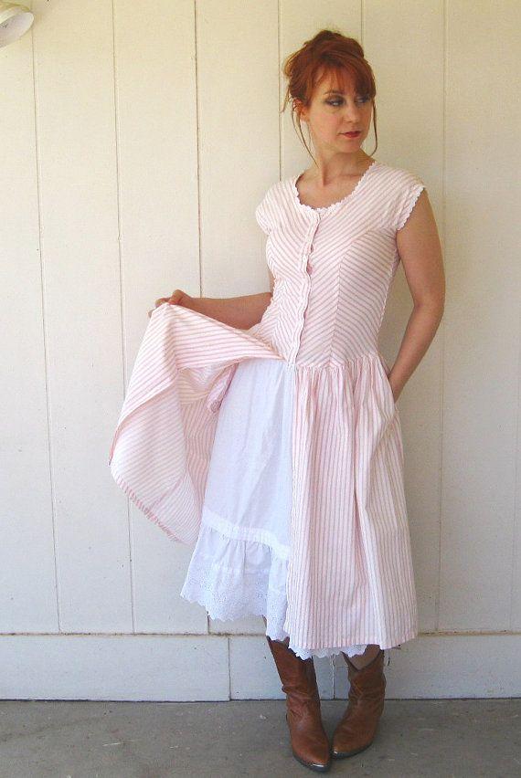 Prairie Style Clothing Peach Dress Fall Fashion Autumn Woodland