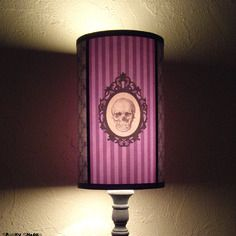 Abat Jour Violet Baroque Skull Couleur Personnalisable Lampe