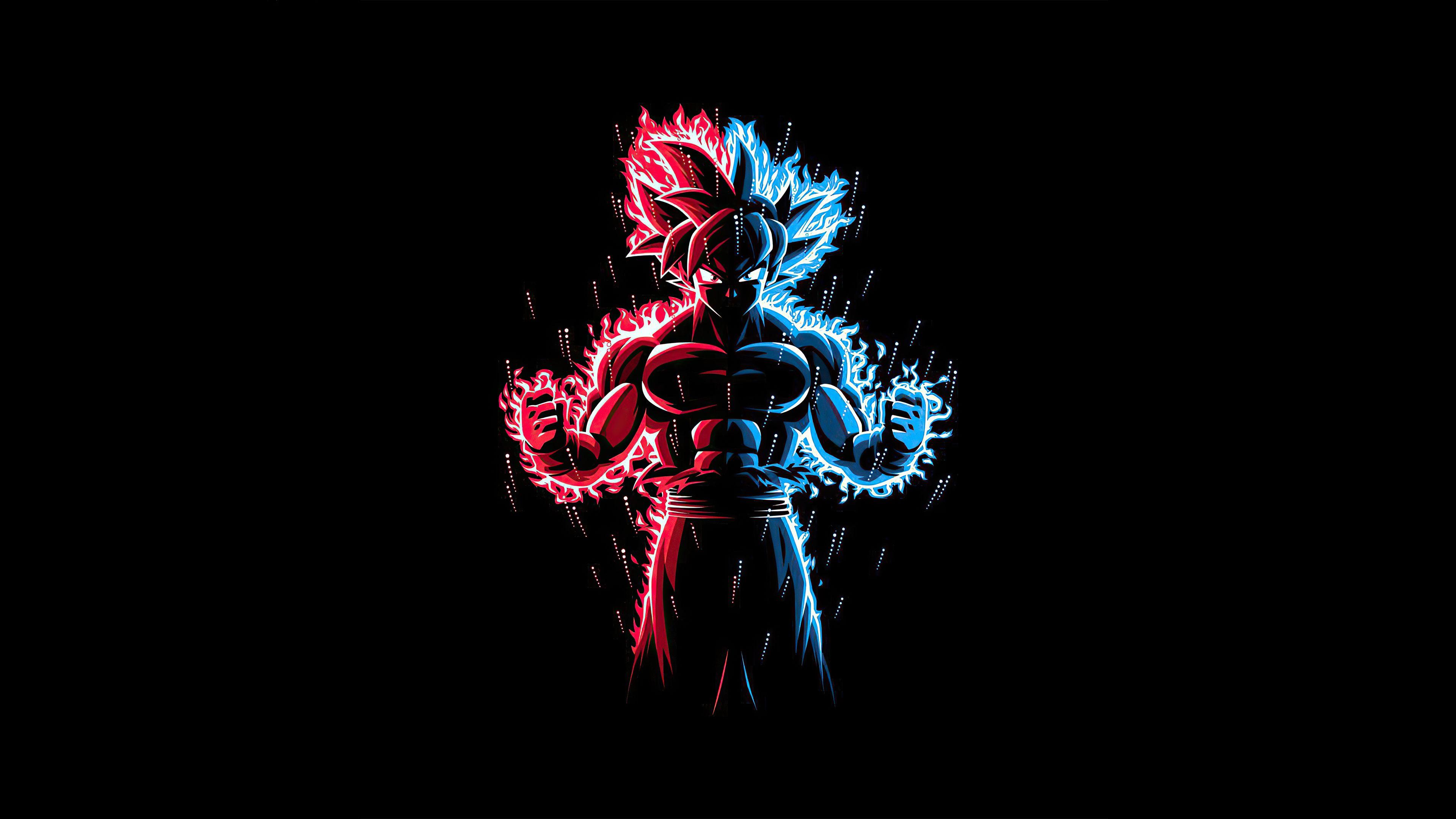 God Red Blue Goku Dragon Ball Z Dragon Ball Dragon Ball Z Red And Blue Anime wallpaper blue and red