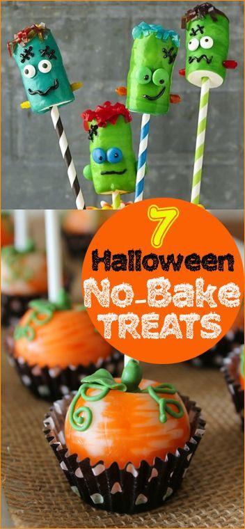 No Bake Halloween Treats Halloween goodies, Halloween desserts and - halloween dessert ideas