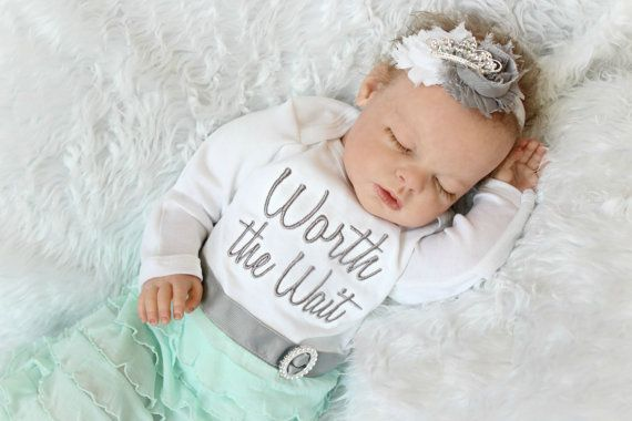 Worth The Wait Newborn Girl Take Home Outfit Layette By