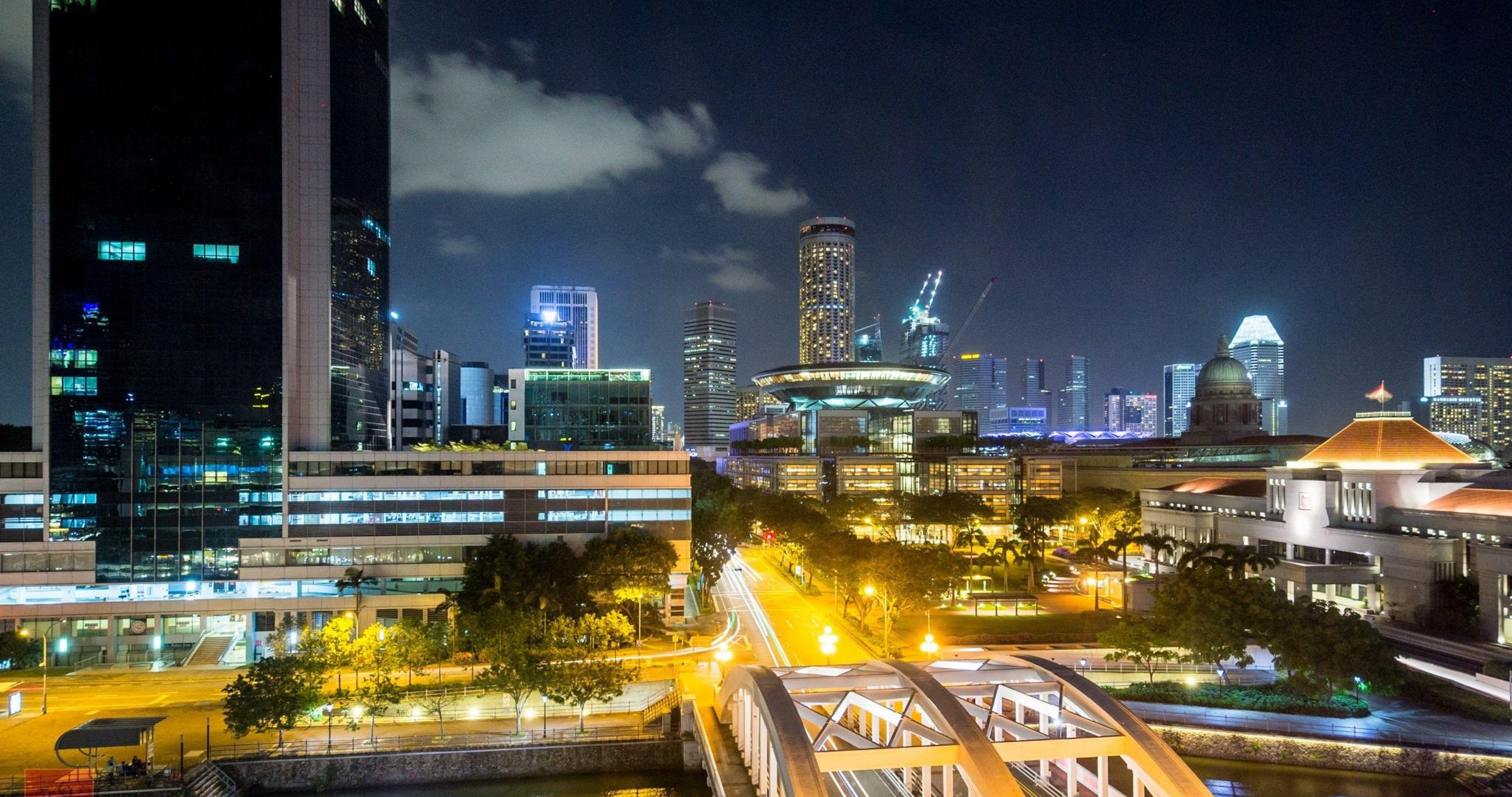 river crossing singapure 4k ultra hd wallpaper