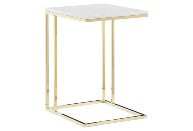 Fred Tray Table White Gold Living Room Side Table Gold Couch White Side Tables