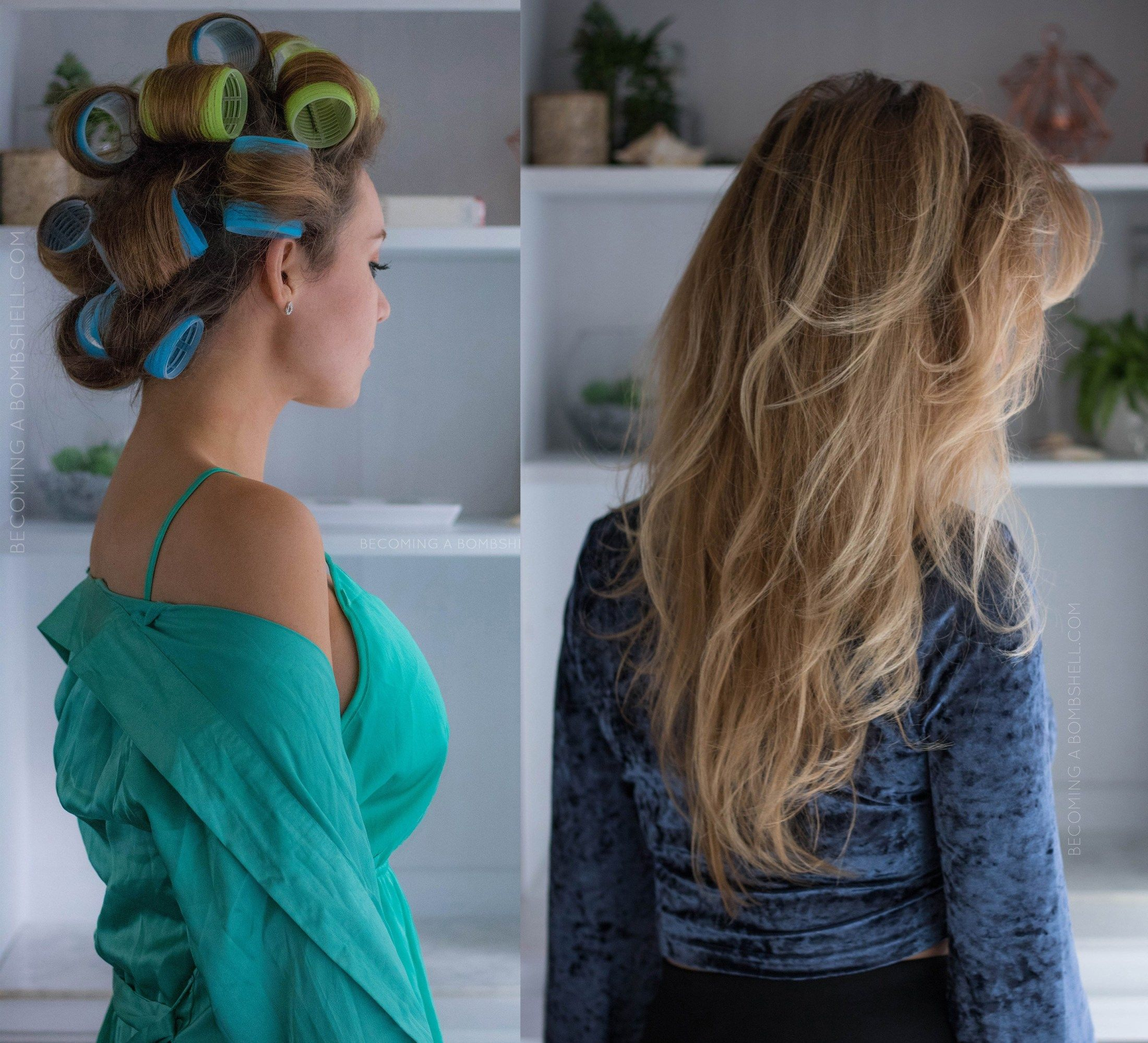 How To Use Velcro Rollers For Voluminous Hair Becoming A Bombshell Velcro Rollers Big Hair Rollers Hairstyles For Thin Hair