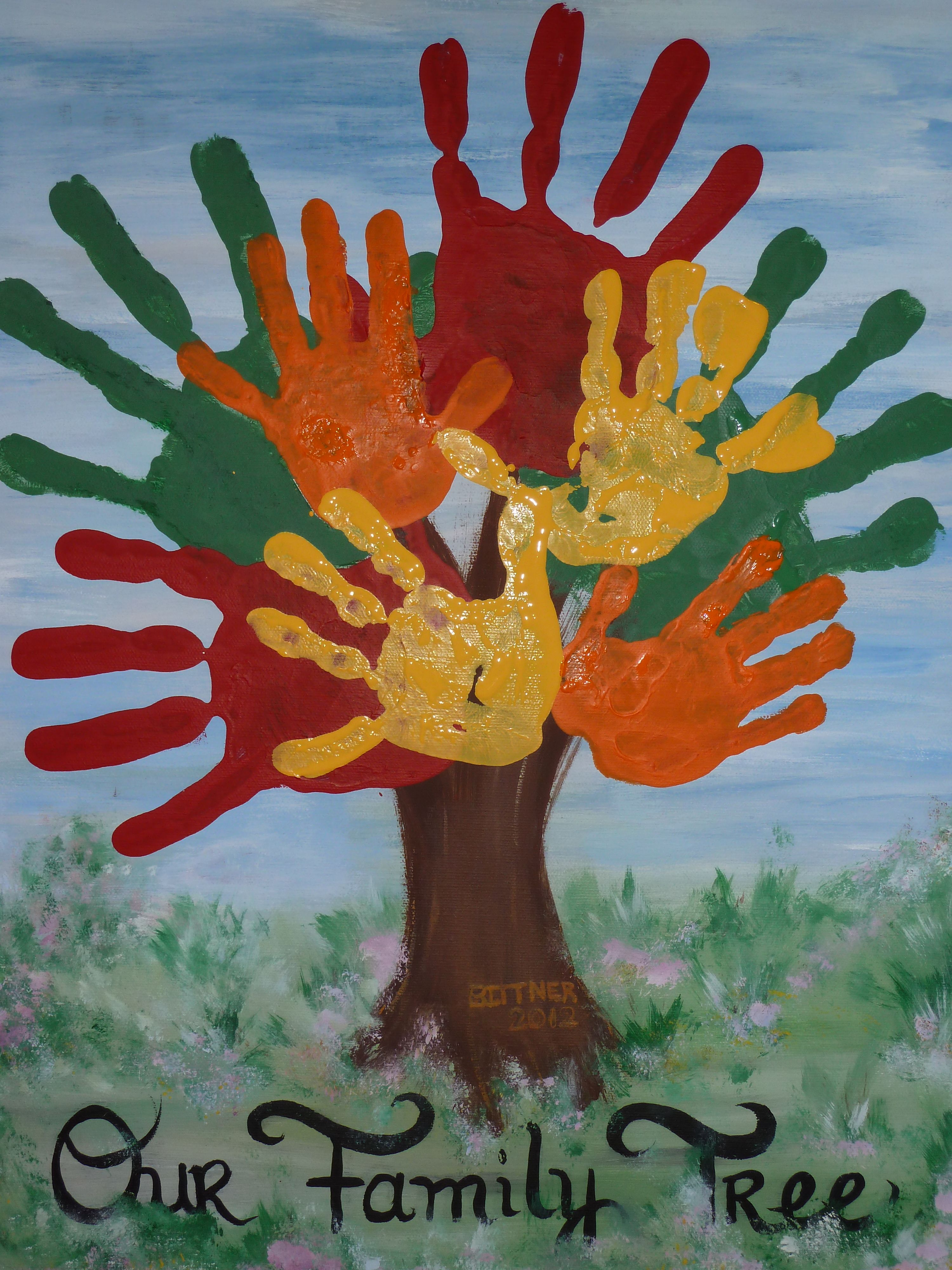 My Family Tree On Canvas Fun Thing For All The Students To Do Class Wall In Fall