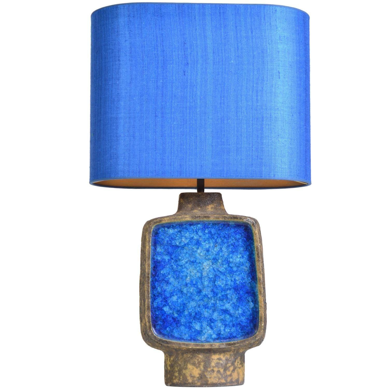 Modern Ceramic Vase Table Lamp: Ceramic Glazed Vase Lamp By Rene Houben