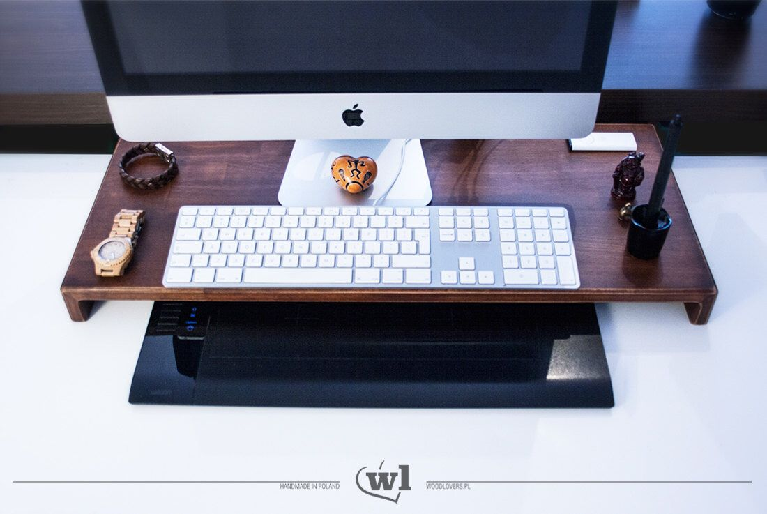 hortimac wooden table wooden stand for apple imac computer by rh pinterest com