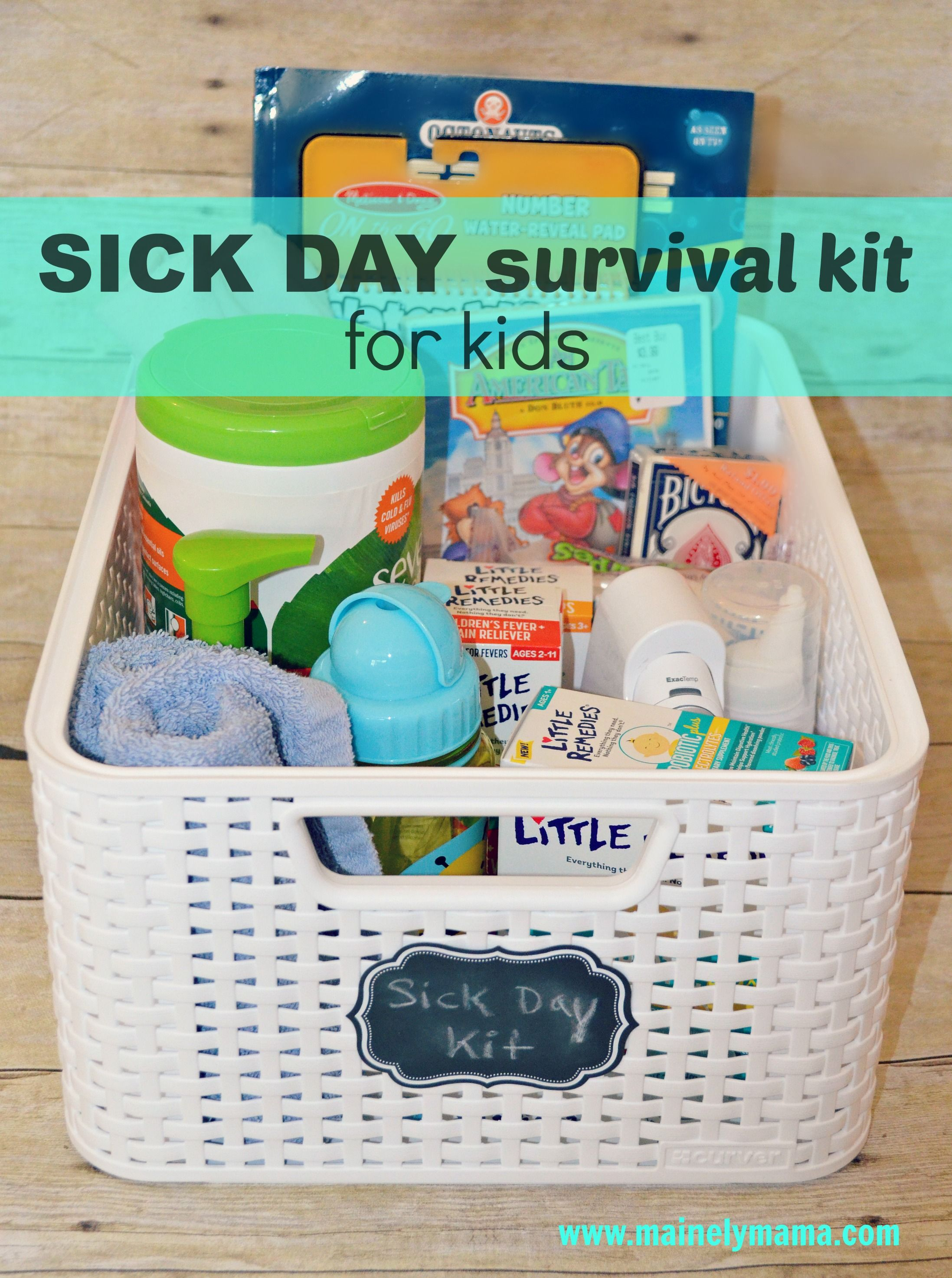 Be prepared with this sick day survival kit for kids ad