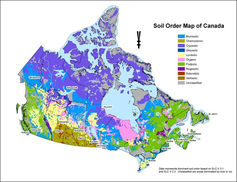 Soil order map of canada canada countrywide geology for Soil zone of accumulation