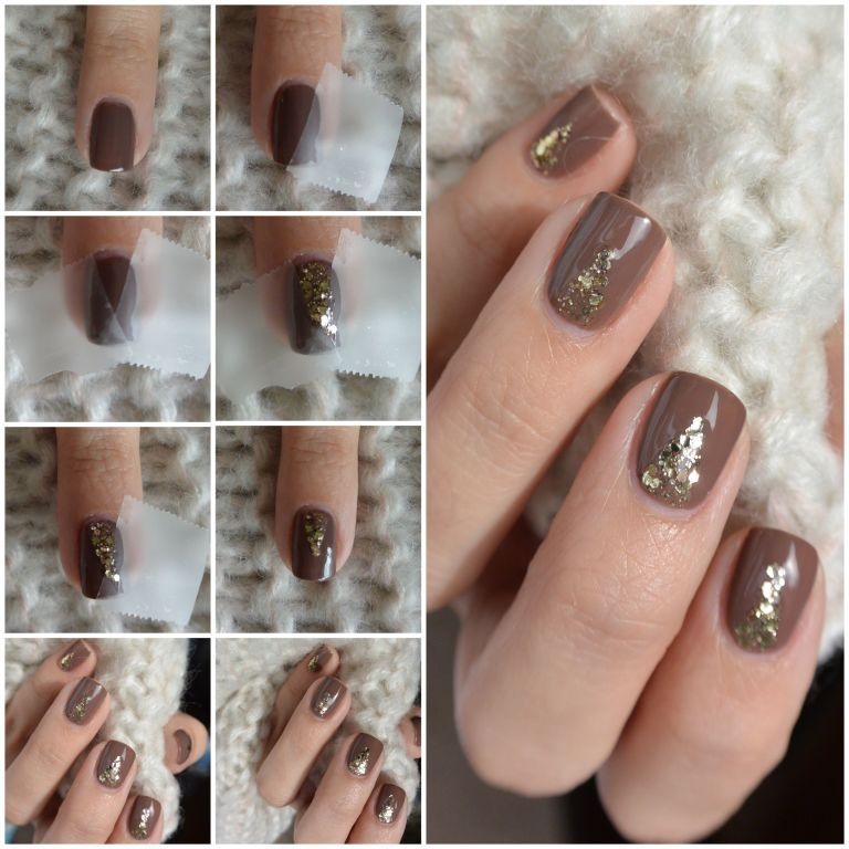 Nail Art How-To: Simple Neutrals With a Hint of Glitter | Pinterest ...