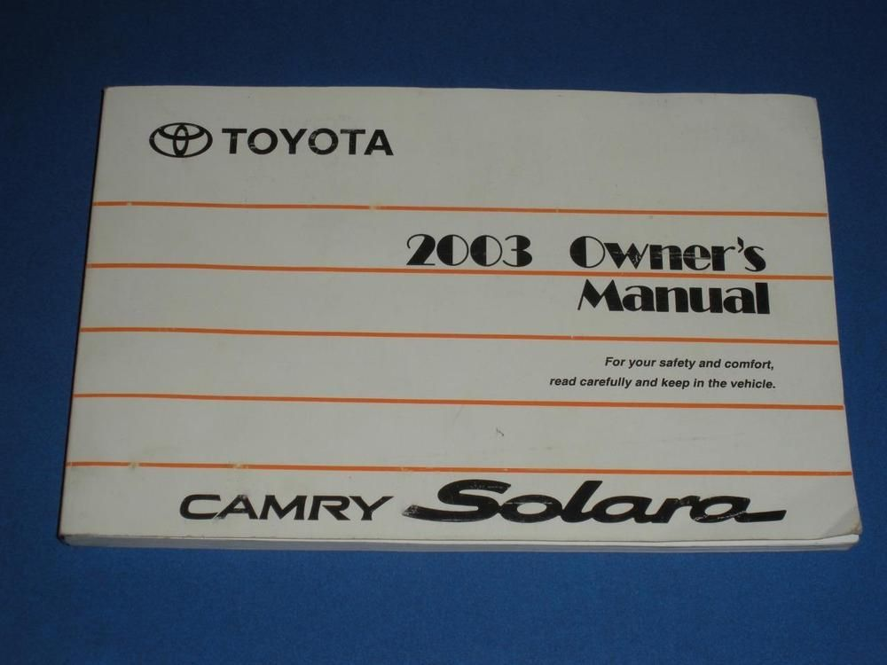 2003 toyota camry solara owners manual book guide owners manuals 2003 toyota camry solara owners manual book guide fandeluxe Images