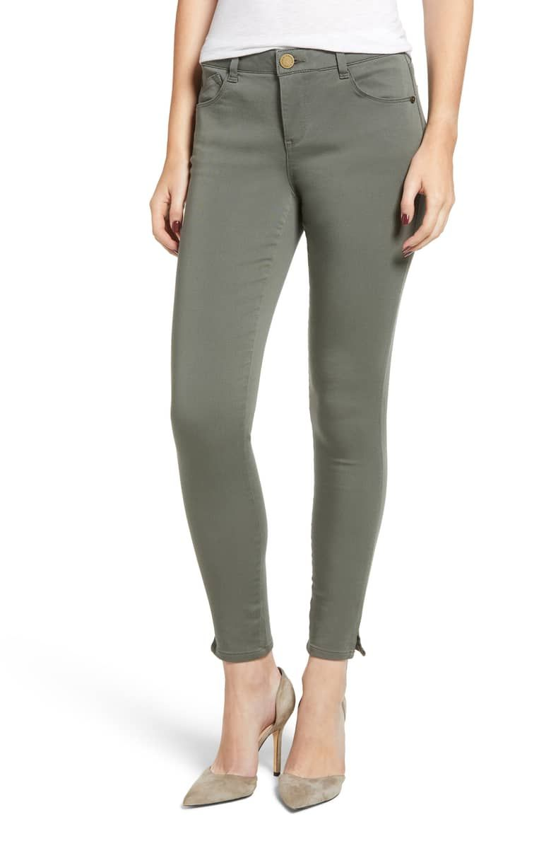 dea38fe8753f3 Wit and Wisdom Ab-Solution Ankle Skinny Pants, Main, color, Thyme ...
